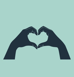 Love gesture vector