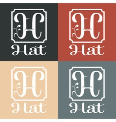 Hat monogram vector