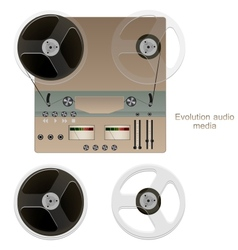 Tape player vector