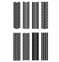 Tire shapes vector