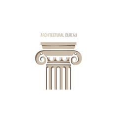 Architectural bureau logo template vector
