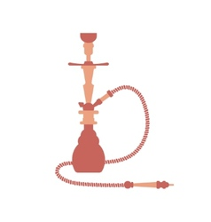 Hookah flat design isolated vector