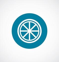 Orange tripod icon bold blue circle border vector