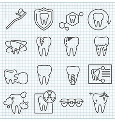 Stomatology icons set vector