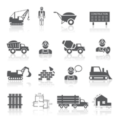 Construction pictograms collection vector