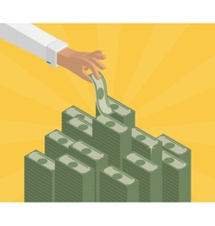 Banking deposits vector