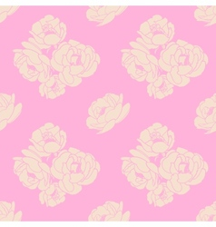 Seamless pattern with pink roses vector