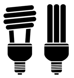 Fluorescent compact bulbs vector