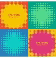 Set of modern flat halftone backgrounds vector