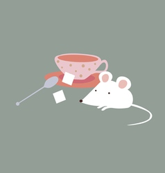 Mouse and sugar vector