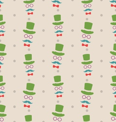 Hipster seamless texture pattern with vintage vector