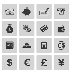 Money icons vector