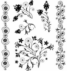 Scroll art vector