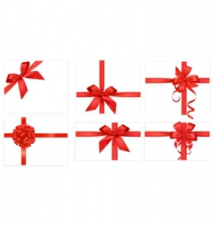 Big group with red bows vector