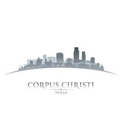 Corpus christi texas city skyline silhouette7 vector
