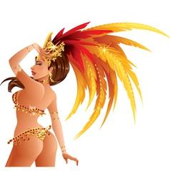 Carnival dancer vector