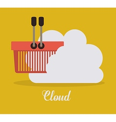 Cloud services design vector