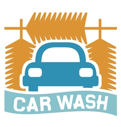 Car wash sign vector