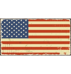 American grunge flags vector