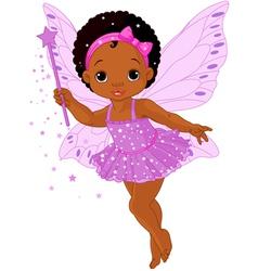 Cute little baby fairy vector