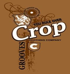 Art design with crop models vector