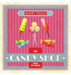 Sweet shop poster vector