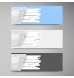 Banner set  colorful line strips vector