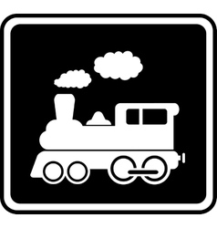 Isolated icon with white train vector