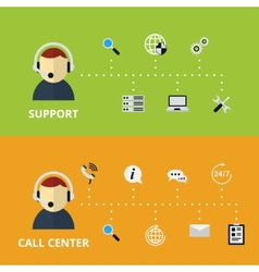 Support and call center concept vector