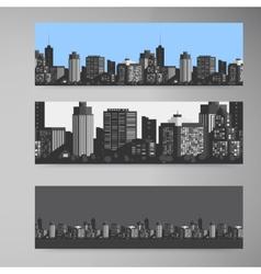 Banner modern city vector