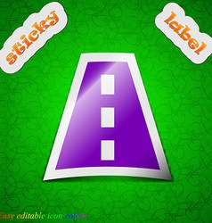Road icon sign symbol chic colored sticky label on vector