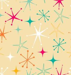 Retro starry pattern vector