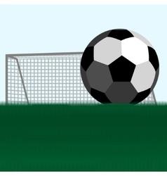 Soccer ball and football goals vector