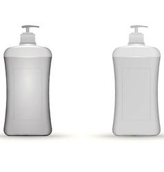 Gray dispenser pump bottles mock up vector