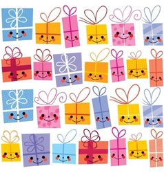 Gifts present boxes vector