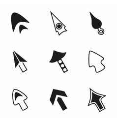 Cursor icon set vector