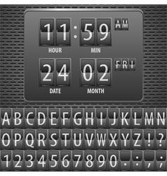 Alphabet numeric characters vector