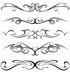 Calligraphic tattoo vector