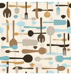 Cutlery seamless pattern background vector
