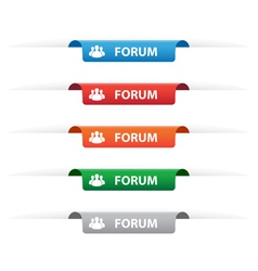 Forum paper tag labels vector