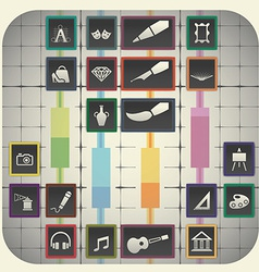 20 infographic elements with graph background vector