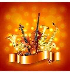 Musical instruments background vector