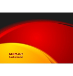 Bright wavy abstract background german colors vector
