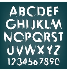Alphabet typography set with numbers vector