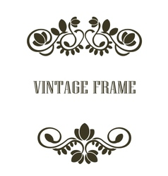 Vintage frame border elements vector