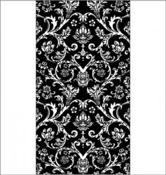 Damask royal pattern vector