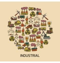 Industrial sketch set vector