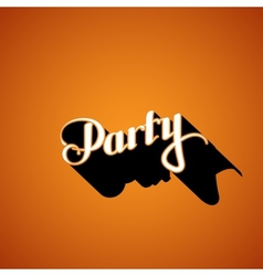 Party retro label vector