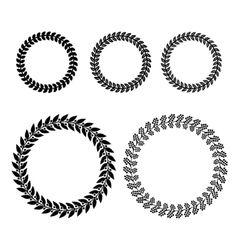 Laurel wreaths set vector