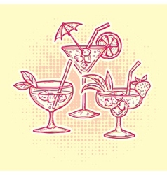 Alcohol drinks icons set vector